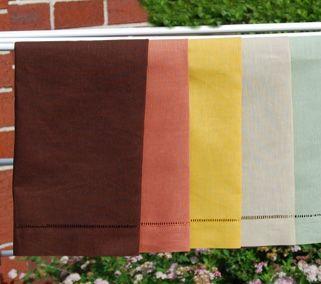 Colored linen hemstitched guest towel GL-005-Ollko linen
