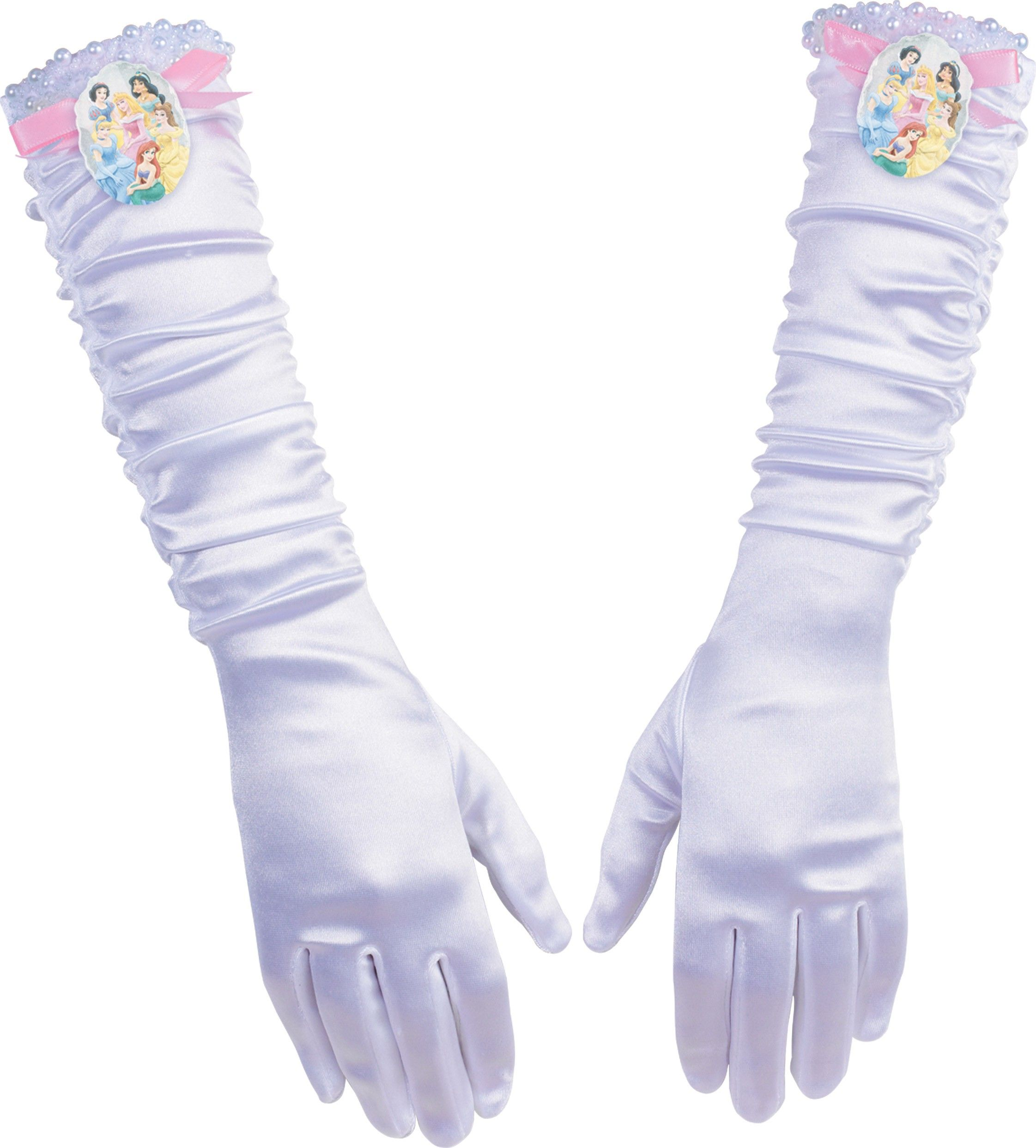 Disney Princesses Princess Gloves Child Costume Accessory | Belle ...
