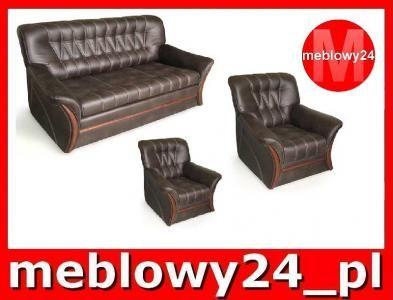 Meblowy24 Pl Zestaw 3 1 1 Marco Skora Naturalna Lounge Chair Recliner Chair Armchair