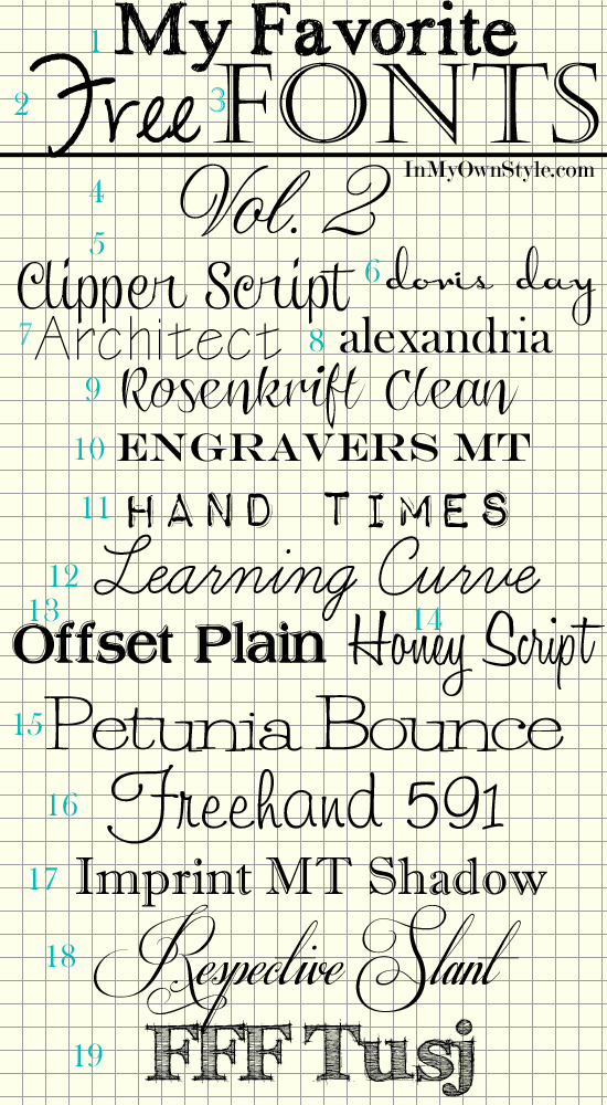 My Favorite Free Fonts Vol. II Lettering, Favorite fonts