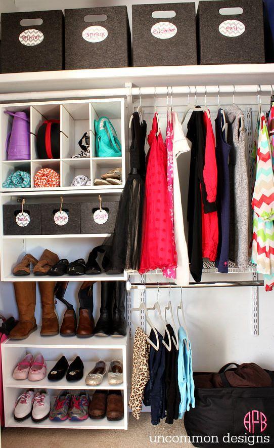 Kids Closet Organization by Uncommon Designs | Smart Closet Hacks ...