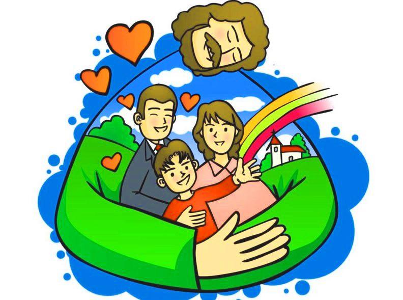 imagen sobre jes s protegiendo a la familia dibujos de jes s rh pinterest com Religious African American Family religious clip arts for february