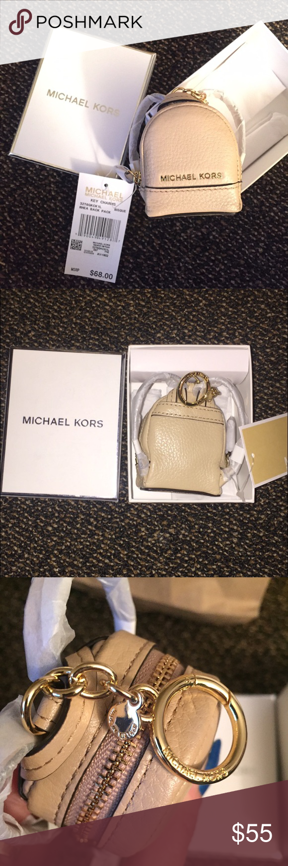 Small Purses · 🆕 Michael Kors LEATHER Backpack Keychain Tags BOX BRAND NEW  with Tags  amp  GIFT BOX 18b585d182
