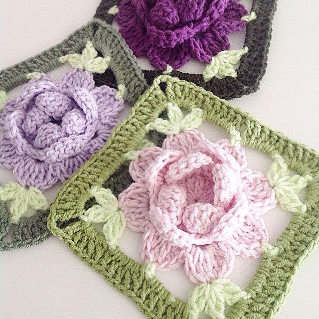 Pin de Mirin Viva en Crochet pic. | Pinterest | Manta, Cuadrados y ...