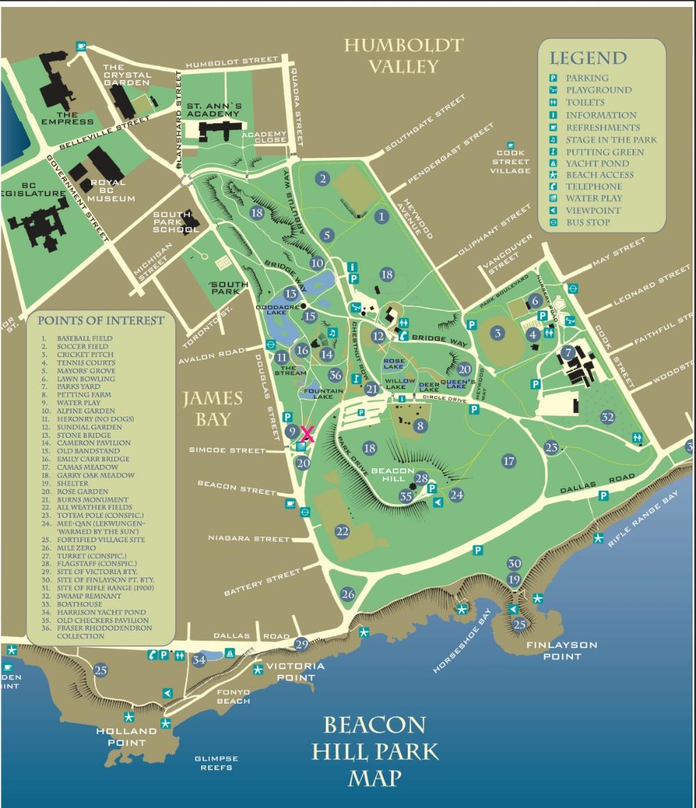 Hills Bc Canada, Map beacon hill park victoria map   Google Search | Beacon hill park