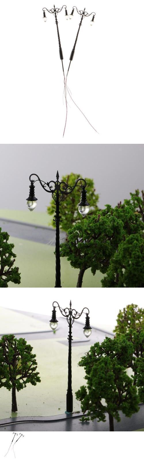 2pcs 1:64 S Scale Model Railway Layout Lights Street Courtyard Lamp Toys DIY