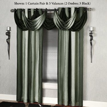 Horizons Grommet Curtains And Waterfall Valances Curtains Beautiful Curtains Curtain Designs