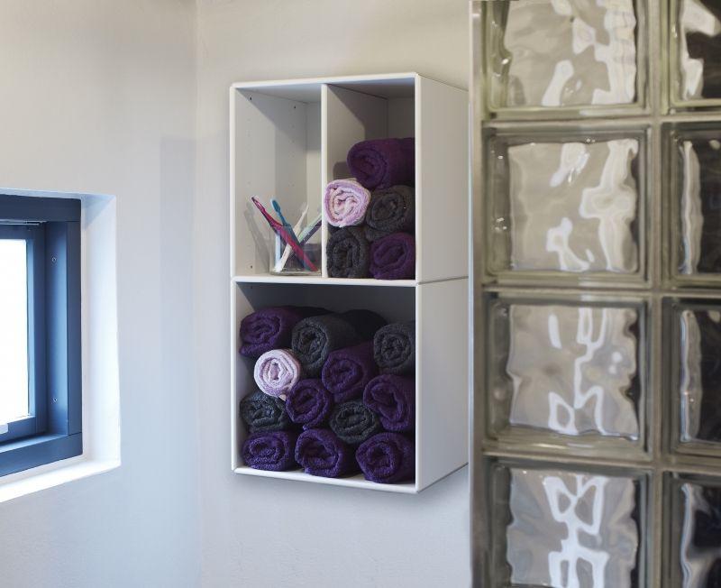 Hangende opbergkast voor in de badkamer - ABC Quadrant ...