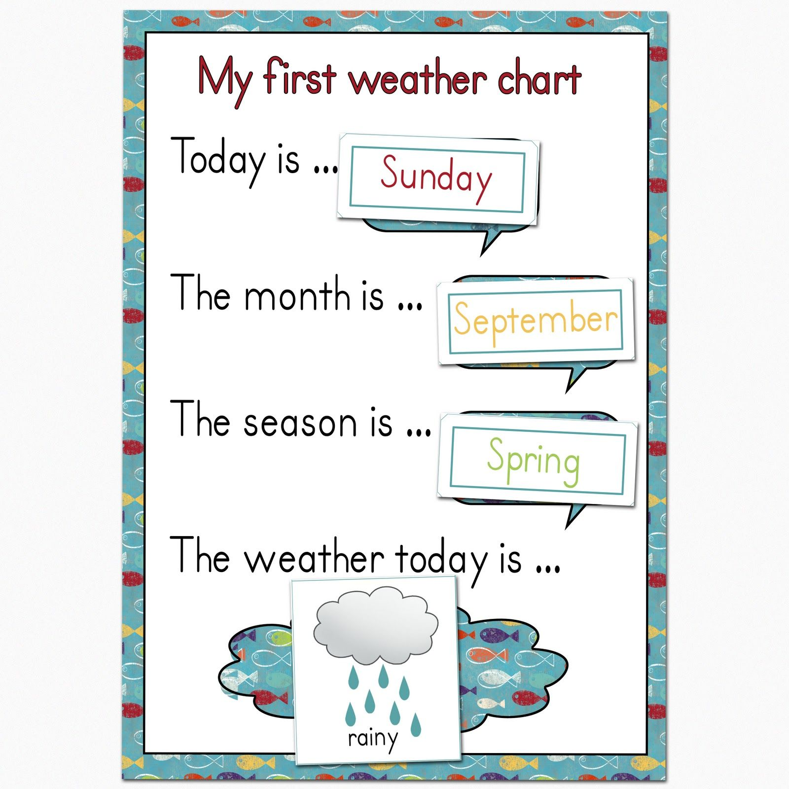 Fantail digital art my first weather chart free printable also science rh pinterest