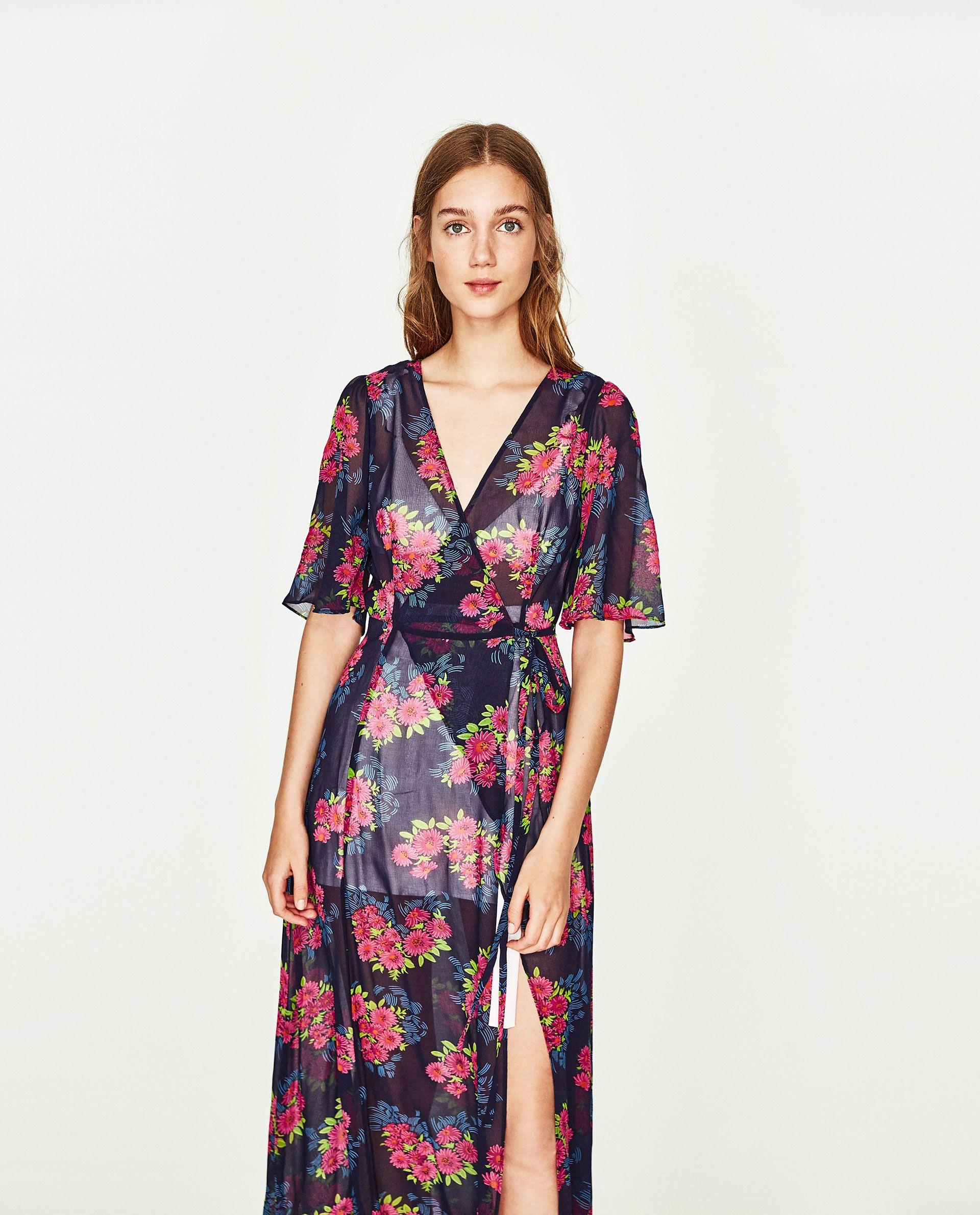 de044dfc Image 2 of LONG TUNIC DRESS from Zara Zara, Short Sleeve Dresses, Short  Sleeves