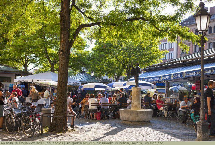 Biergarten Am Viktualienmarkt Munchen Bayern Deutschland Biergarten Munchen Bilder