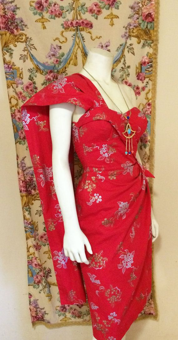 9eb7f12fa2fd Vintage 1950 Alfred Shaheen Hawaiian Sarong by TorchSingerVintage - I've  never…