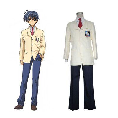 Deluxe Clannad Tomoya Okazaki High School Male Winter Uniform Costumes.  Cosplay ...