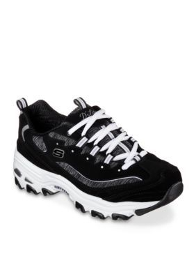 1b2a0eaaf73f Skechers Women s D lites Me Time Women s Sneakers - Black White - 7.5M