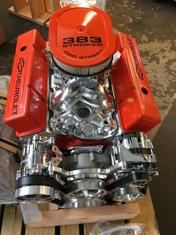 Details about 383 Stroker roller Crate Engine chevy TURNKEY