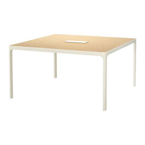 BEKANT Conference table, birch veneer, black | Mesa de reuniones ...
