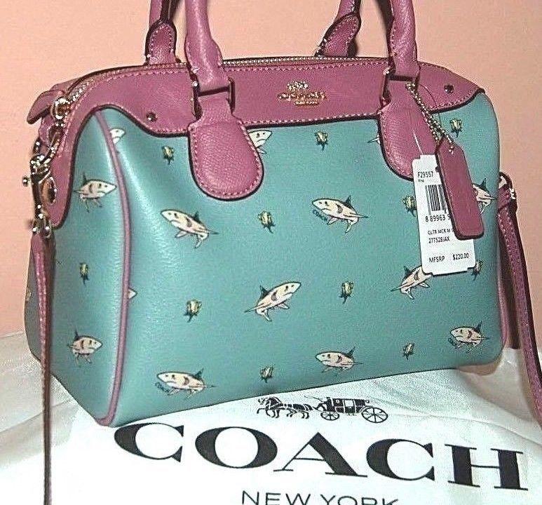 NEW Coach SHARK Mini Bennett Satchel Handbag Shoulder Bag Crossbody Purse   purses  fashion c47fd6c7ba364