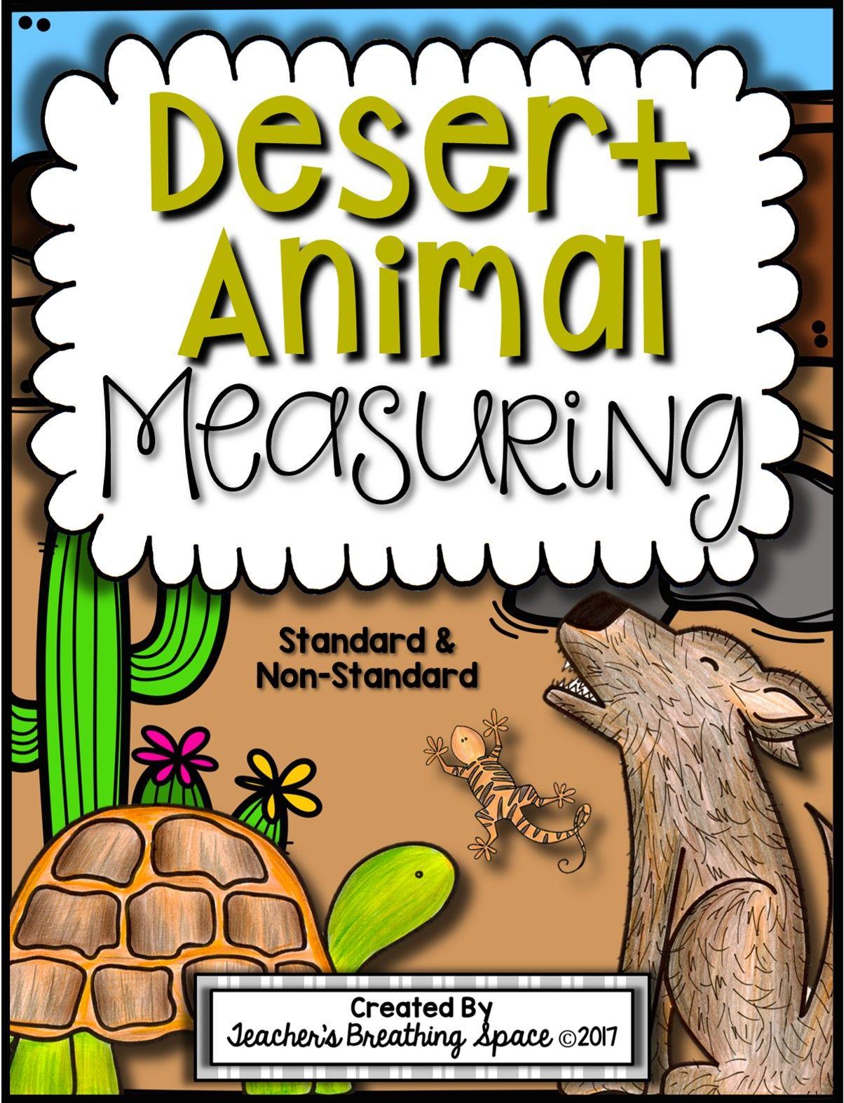Desert Animal Measuring Book And Measurement Math Center