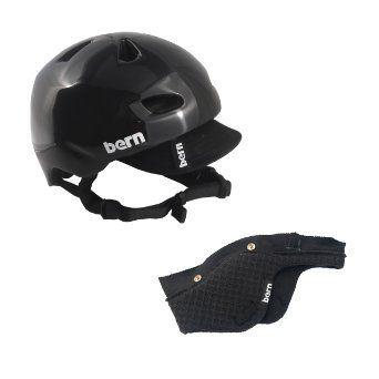 e828d613cd63 BERN BRENTWOOD Winter Helmet Gloss Black LG BONUS Summer Liner Ski Snowboard  NEW