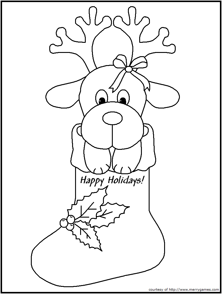 FREE Printable Christmas Coloring Pages - Candy Canes & Stockings ...