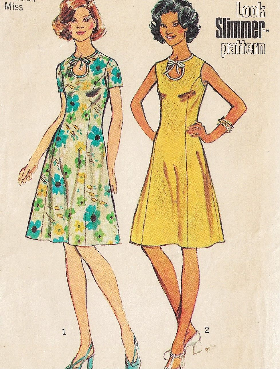 women's fit and flare dress pattern