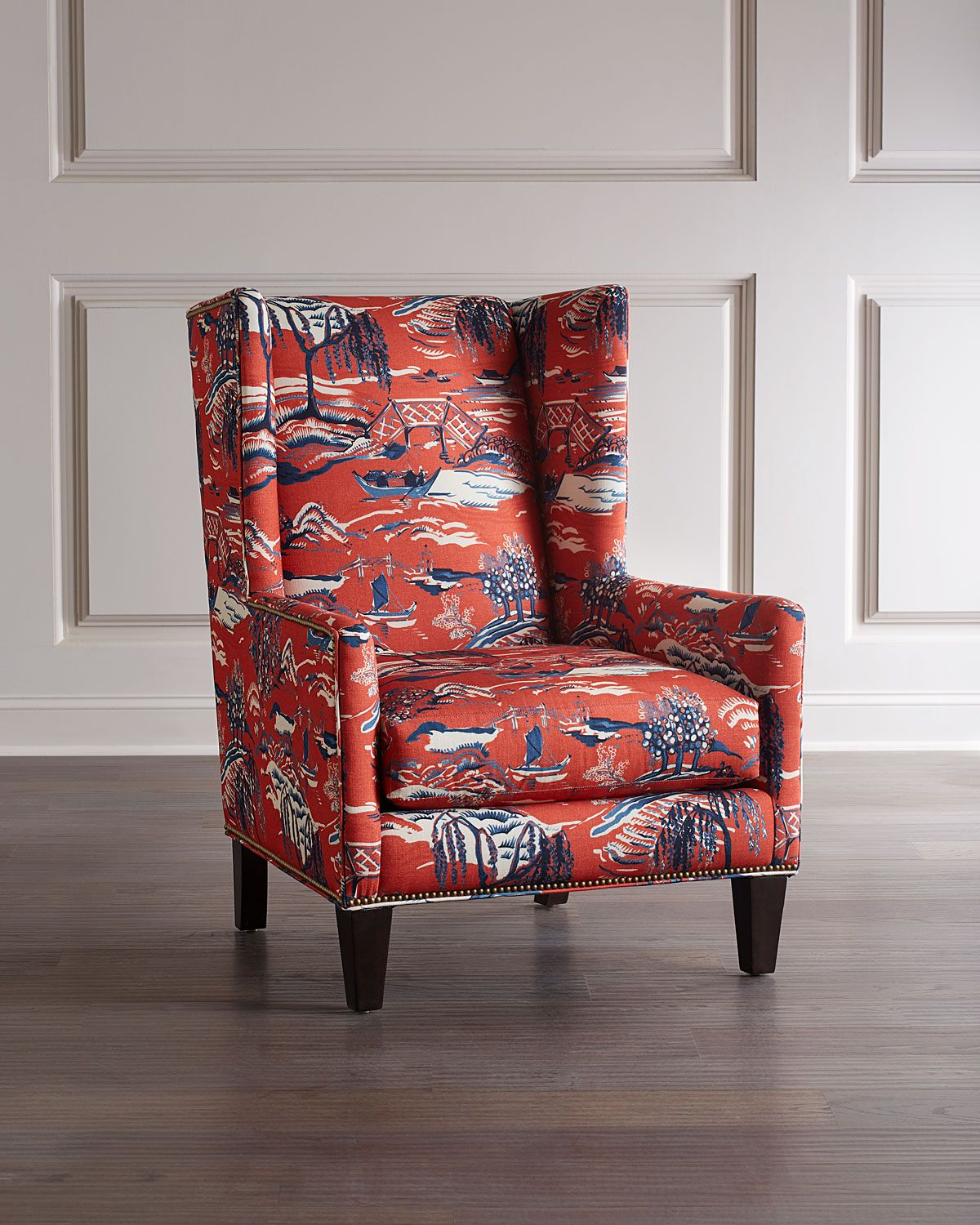 Massoud Claret Wing Chair In 2020 Wing Chair Chair Classic Wing Chair