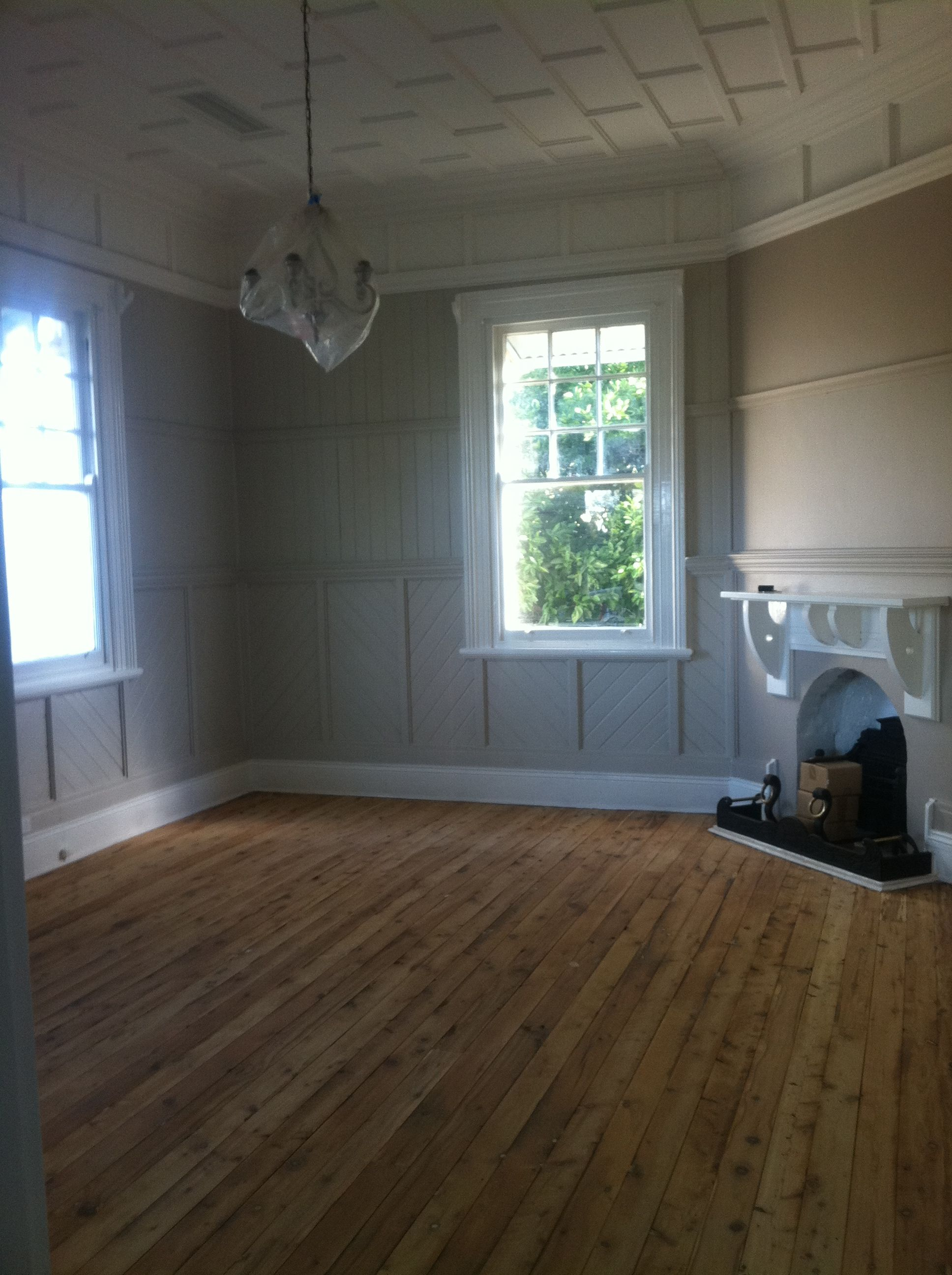 Living Room Cypress Pine Floors Now Sanded Awaiting Clear Gloss Coats Flooring Wood Floors How To Distress Wood