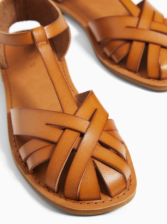 Imagen 2 De Cangrejera De Zara Caged Sandals Sandals Brown Sandals