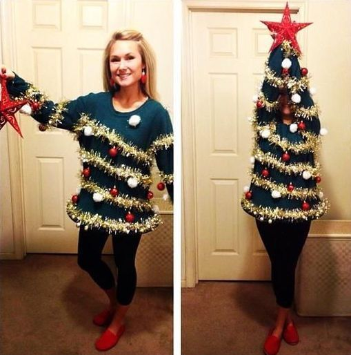 DIY Christmas Tree Christmas Costume Idea  sc 1 st  Pinterest : xmas costume ideas  - Germanpascual.Com