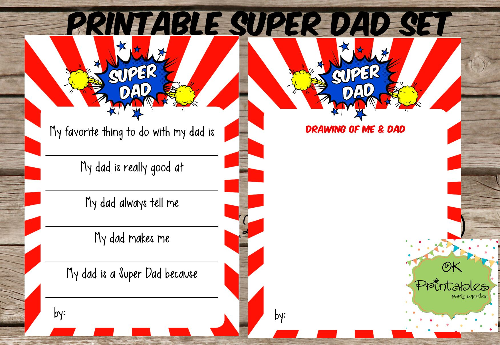 All About My Super Dad Happy Father S Day T Printable
