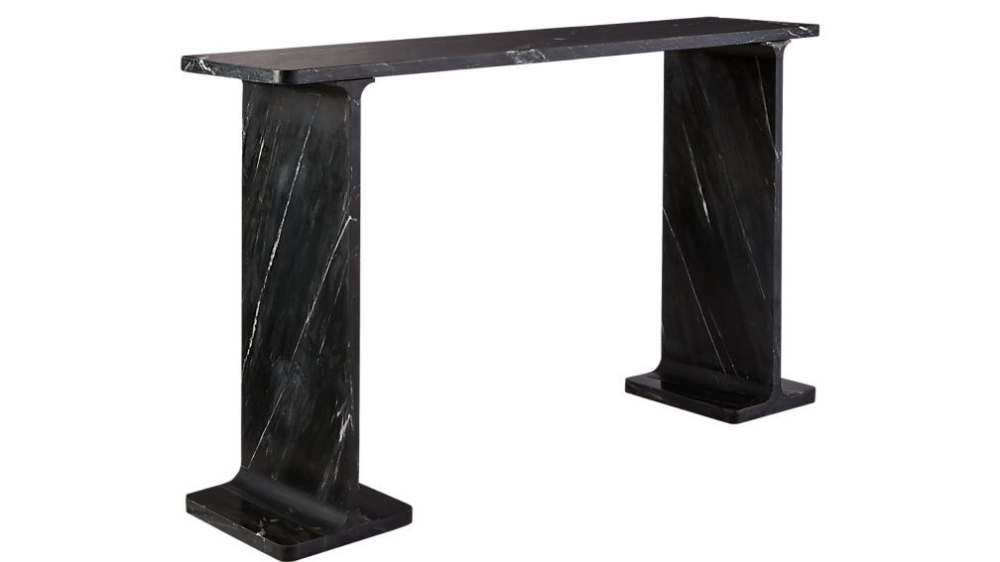 I Beam Black Marble Console Table Marble Console Table Black Marble Console Table