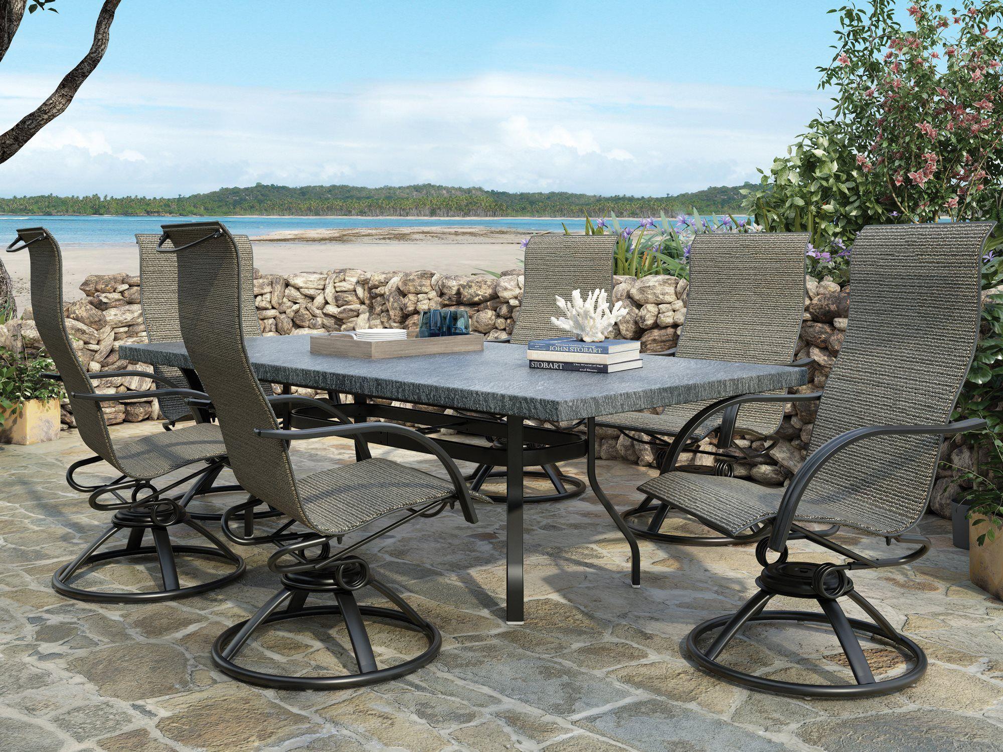Homecrest Palisade Sling Aluminum Dining Set ...