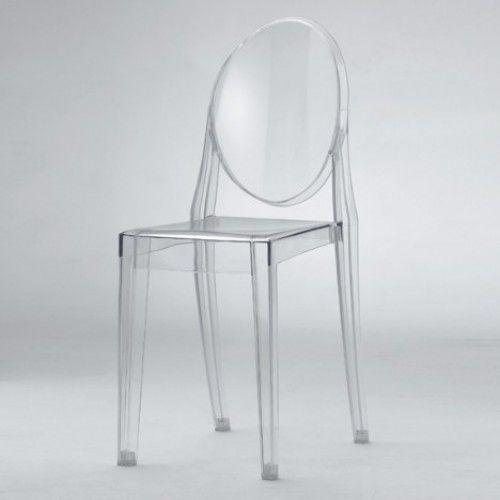 Modern Victoria Acrylic Ghost Side Chair | Modern Clear Acrylic