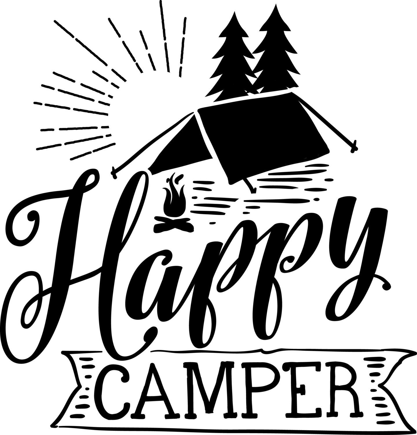 Happy Camper Decal ironon or sticker by