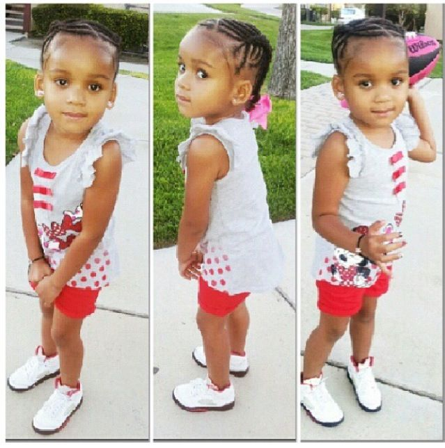 Fine 1000 Images About Little Girls Hair On Pinterest Cornrows Kid Short Hairstyles Gunalazisus