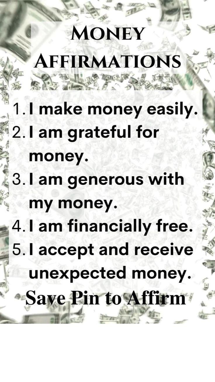 Law of Attraction, Money Affirmations, Manifestation, The Secret, Spirituality, Affirm, Manifesting✨