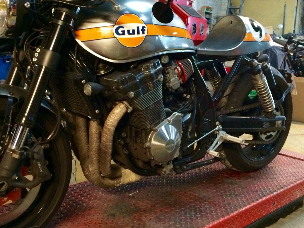 suzuki 1200 inazuma cafe racer | garage & motori | pinterest