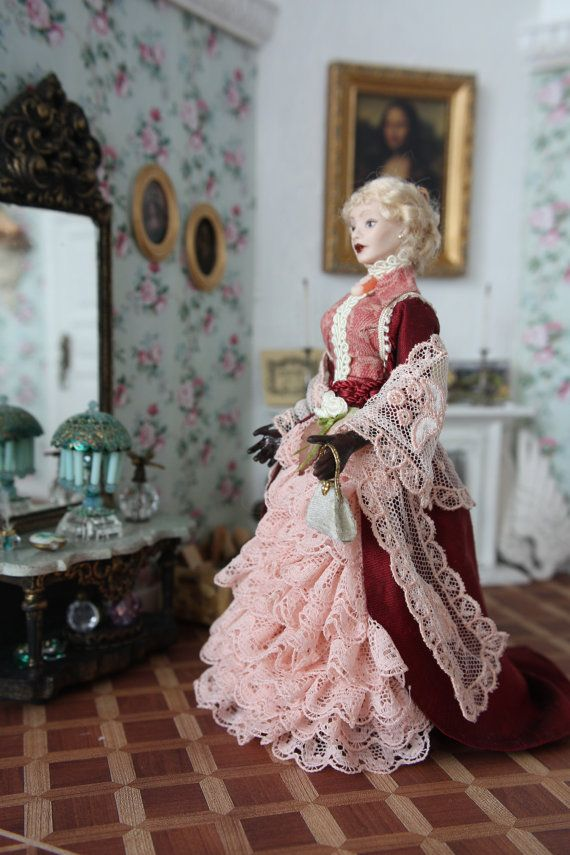 ee4e0d12012c3 Handmade beautiful dollhouse porcelain doll in scale by minis2you ...