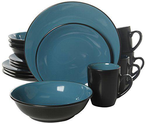 Gibson Home Vivendi 16 Piece Dinnerware Set Turquoise Gi Https