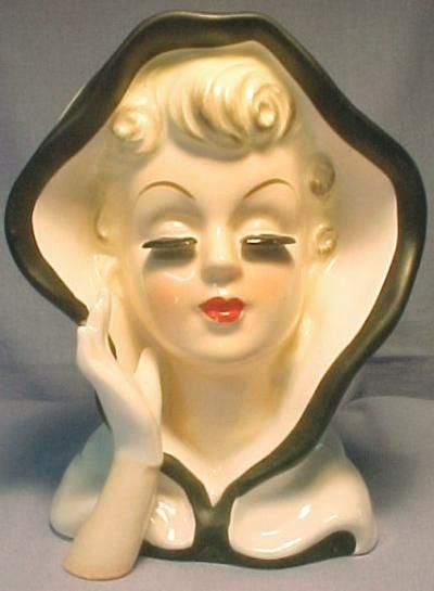 Images Of Head Vases Lady Head Vases By Inarco Enesco Holt Howard And More Head Vase Face Vase Vase