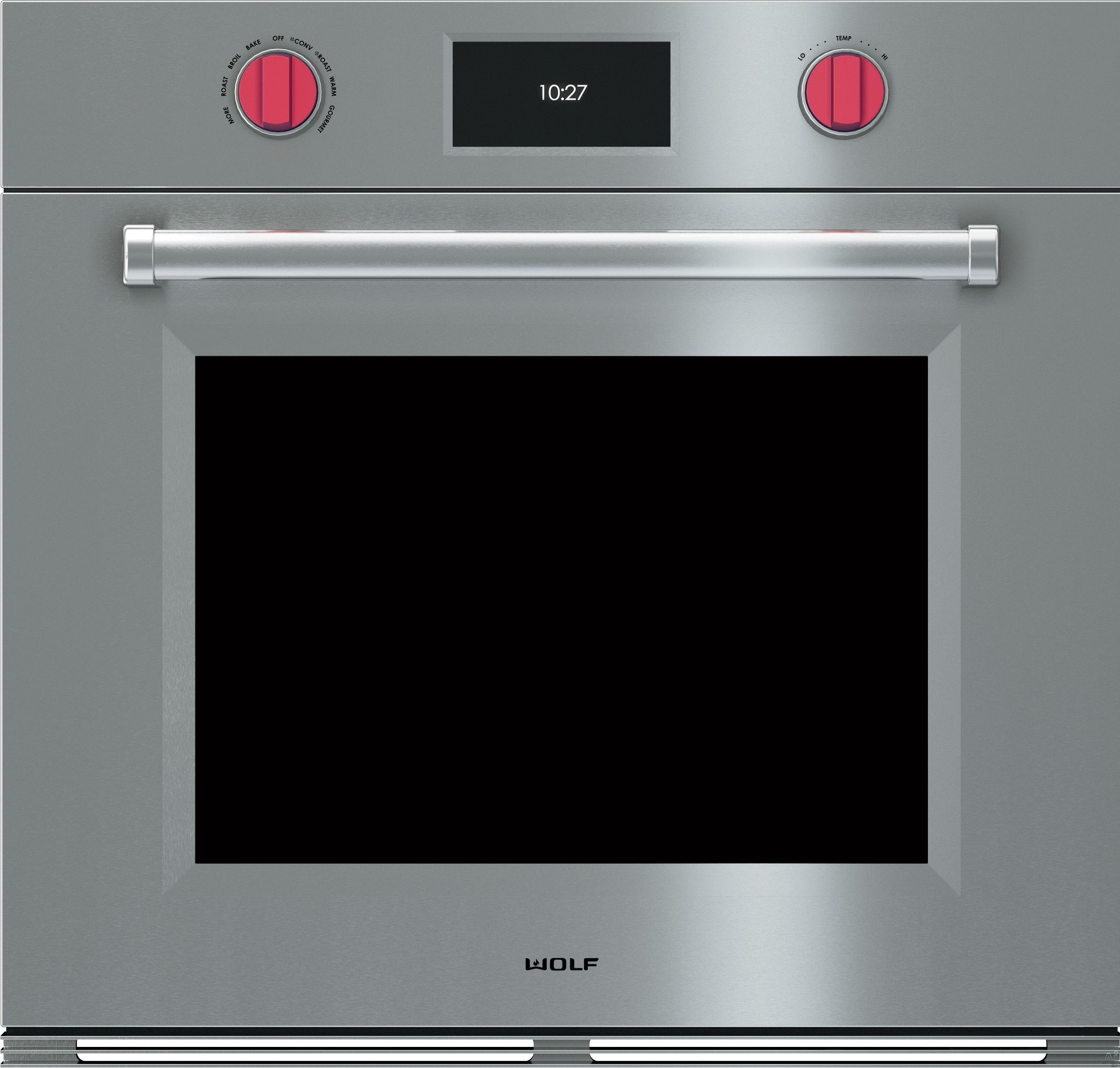 30 Wolf Professional M Series Single Wall Oven W Dual Fan Conv Stainless Red S Google Search