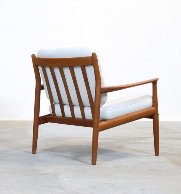 Grete Jalk Teak Lounge Chair For Glostrup 1950s Chaired