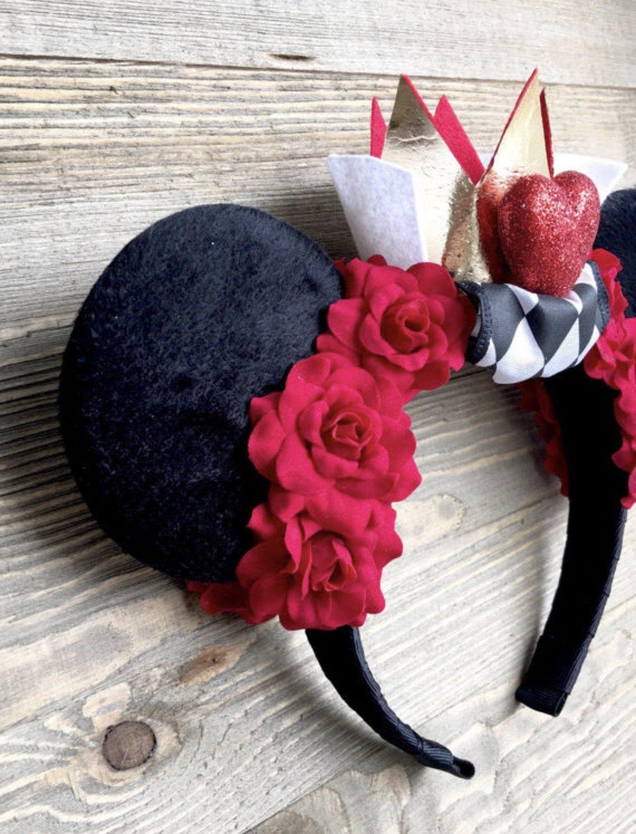 Queen of Hearts Minnie Headband | Diy mickey ears