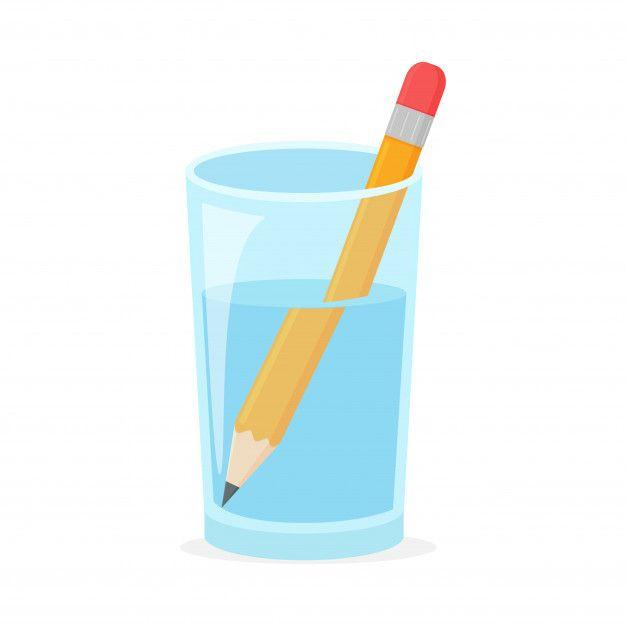 Refraction concept with wooden pencil in... | Premium Vector #Freepik #vector #water #icon #light #wave