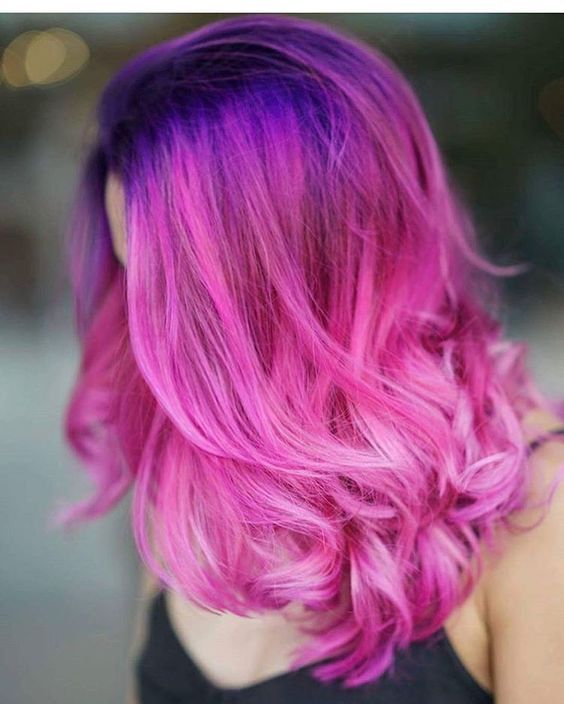 Colorful Hair Photo Cool Hair Color Pink Ombre Hair Purple Ombre Hair