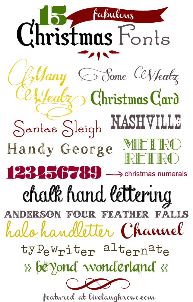 Fun, Festive and Fabulous Christmas Fonts with