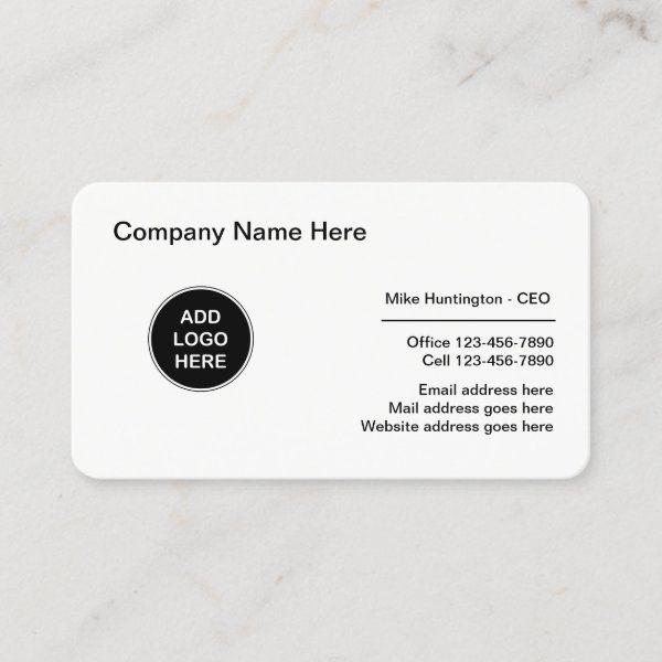 Corporate Professional Logo Design Business Card Zazzle Com In 2021 Business Card Design Construction Business Cards Business Design