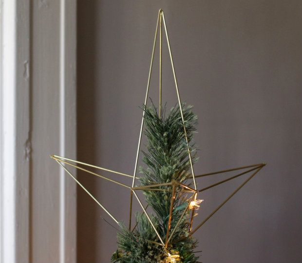 Diy Himmeli Style Christmas Star Tree Topper Diy Tree Topper