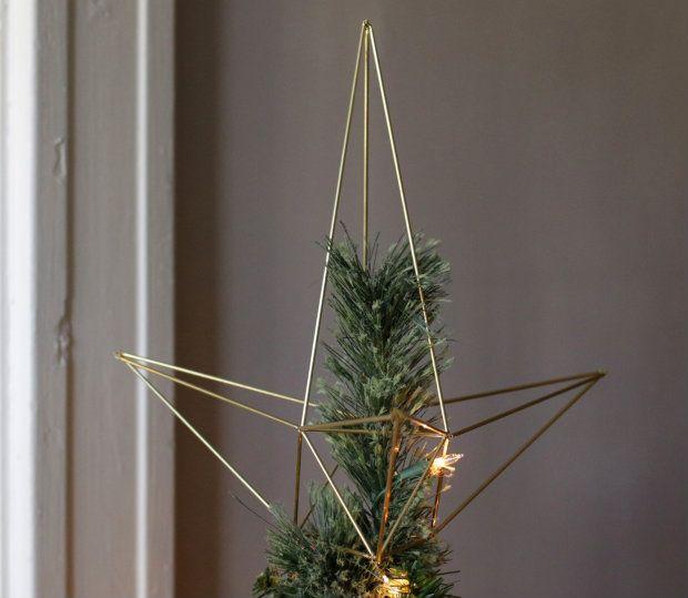 Diy Himmeli Style Christmas Star Tree Topper Diy Tree Topper