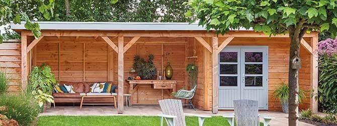 Gartenhaus mit Terrasse (met afbeeldingen) Huis en tuin